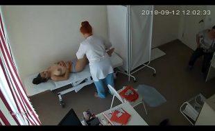 Camera escondida espiando garota linda na massagem
