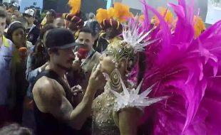 Bastidores do Carnaval 2019 antes da entrada no Sambódromo - Sabrina Sato - Gaviões da Fiel
